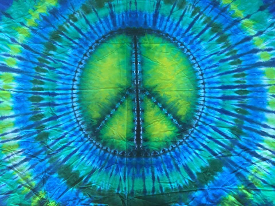 type b tie dye Peace Sign.
