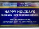 FREE PARKING in New Hope!