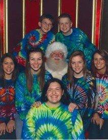 Merry tie dye x-mas!