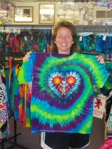 type b tie dye peace heart center spiral