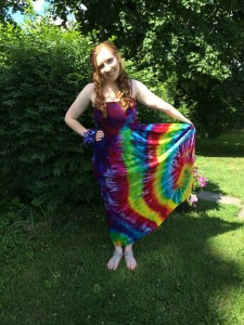 type b tie dye dress