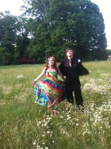 type b tie dye prom couple