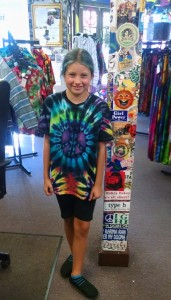 that's the smile of a kid that just made an awesome tie dye - great job!