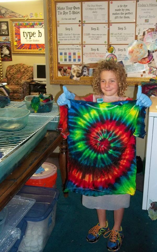 Tie dye at our studio type b tiedye studios for Types of tie dye shirts