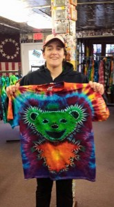 type b tie dye dancing bear