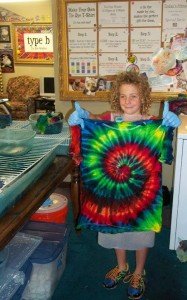 type b tie dye center spiral