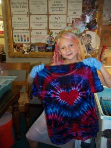 type b tie dye heart side spiral