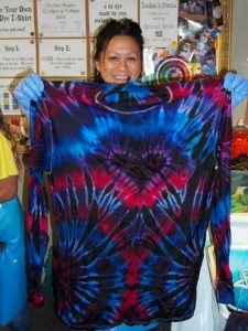 type b tie dye dark base heart side spiral