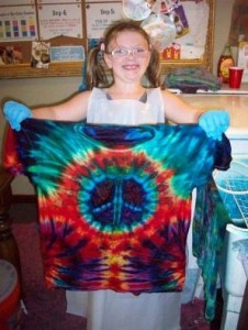 type b tie dye side spiral peace sign