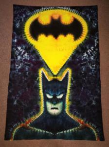 "tie dye Batman ""i won't kill you but i don't have to save you"""