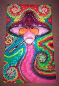 tie dye Gonzo mushroom face
