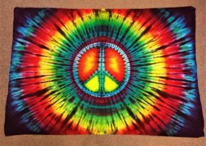 tie dye rainbow peace
