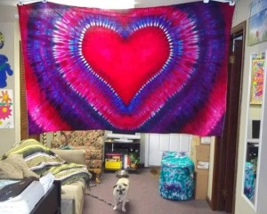 tie dye heart - happy valentine's day!