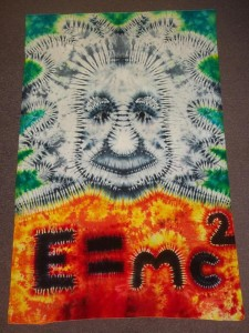 "Tie Dye Einstein ""The difference between genius and stupidity is that genius has its limits."""